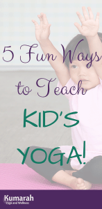 young girl doing yoga pose on a yoga mat, 5 fun ways to teach kids yoga in a yoga class or school