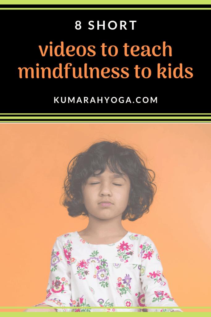 8 short videos to teach mindfulness to kids, child practicing mindfulness meditation