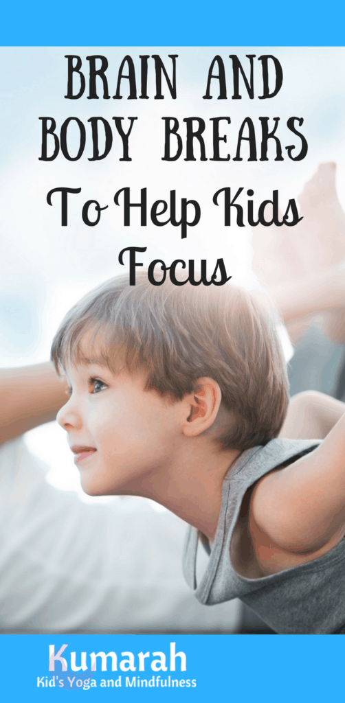 brain and body breaks to help kids focus, kids doing yoga at school to help them refocus their energy