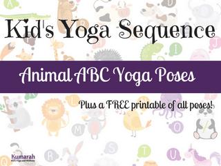 Animal Yoga ABC's for kids!