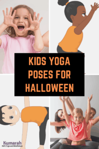 halloween themed yoga for kids, yoga poses to celebrate halloween for kids