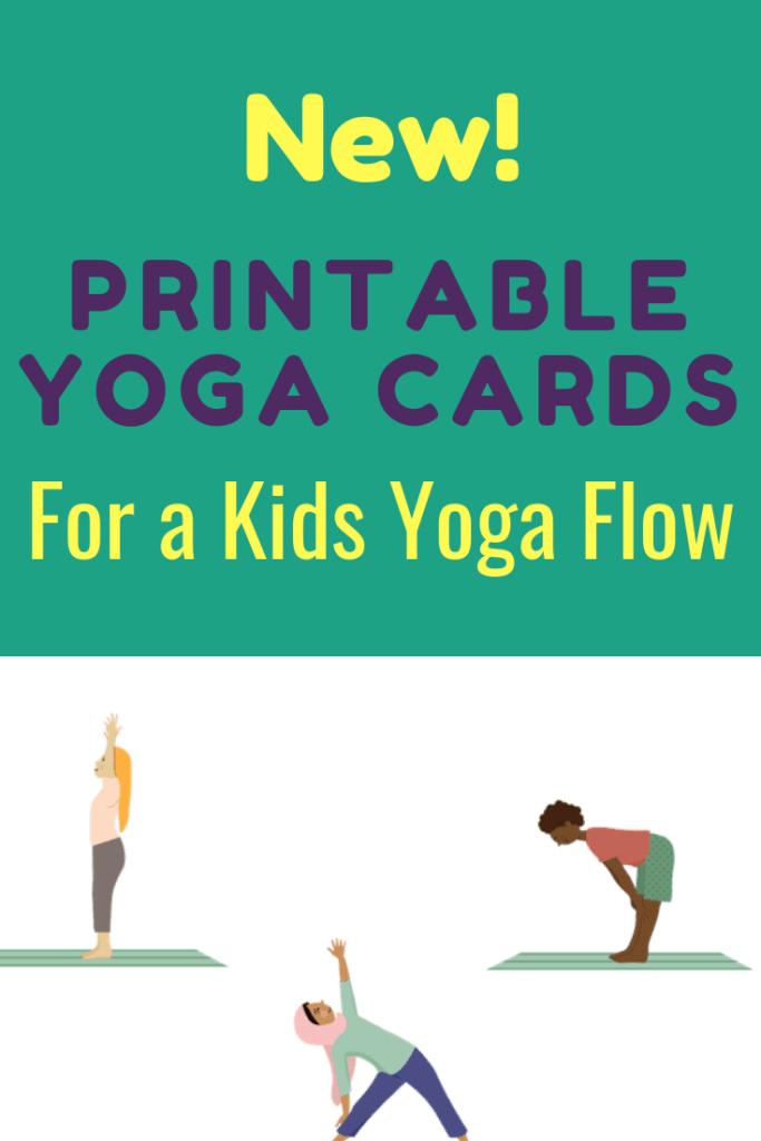 kids yoga poses, yoga sequence for kids, printable yoga cards for kids