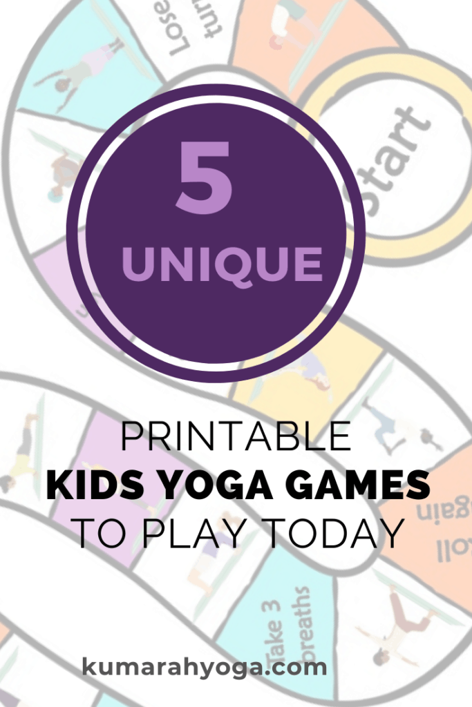 printable yoga games for kids, yoga games for kids at home or at school