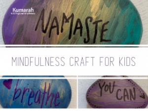 mindfulness rocks for kids, mindfulness craft for kids, DIY art project for kids at home or school, affirmation stones
