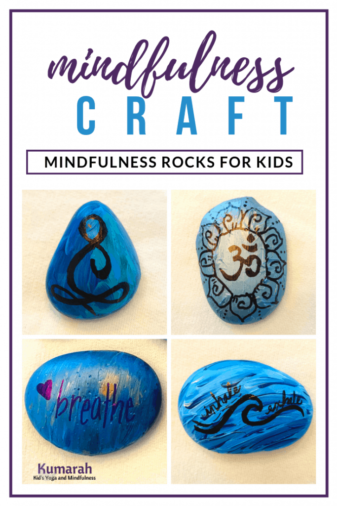 beautiful and colorful decorated rocks to paint DIY at home or school affirmation kindness rocks for kids to paint and use to practicing breathing and mindfulness