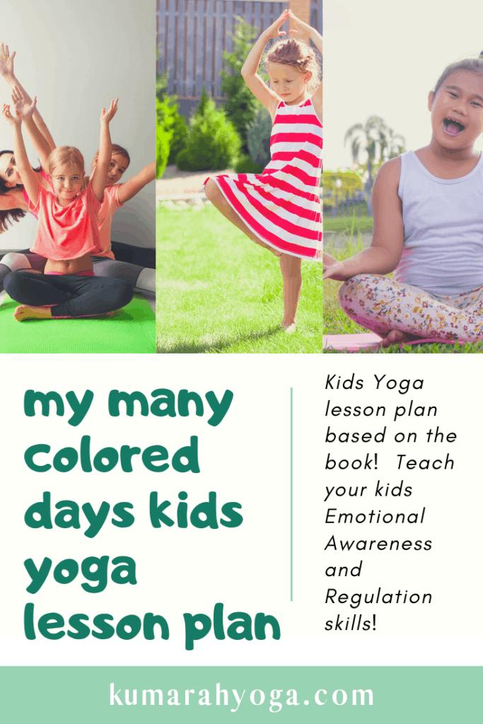 my man colored days kids yoga lesson plan