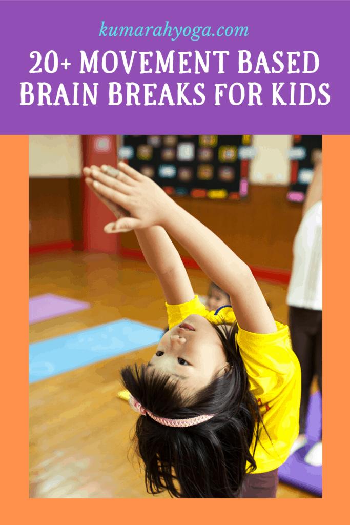 brain breaks for kids, movement breaks for kids with yoga, kids yoga and brain breaks