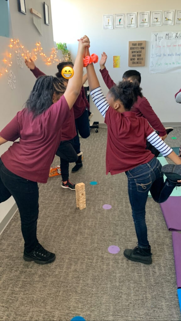 yoga jenga, yoga games at home, yoga games for kids at home,