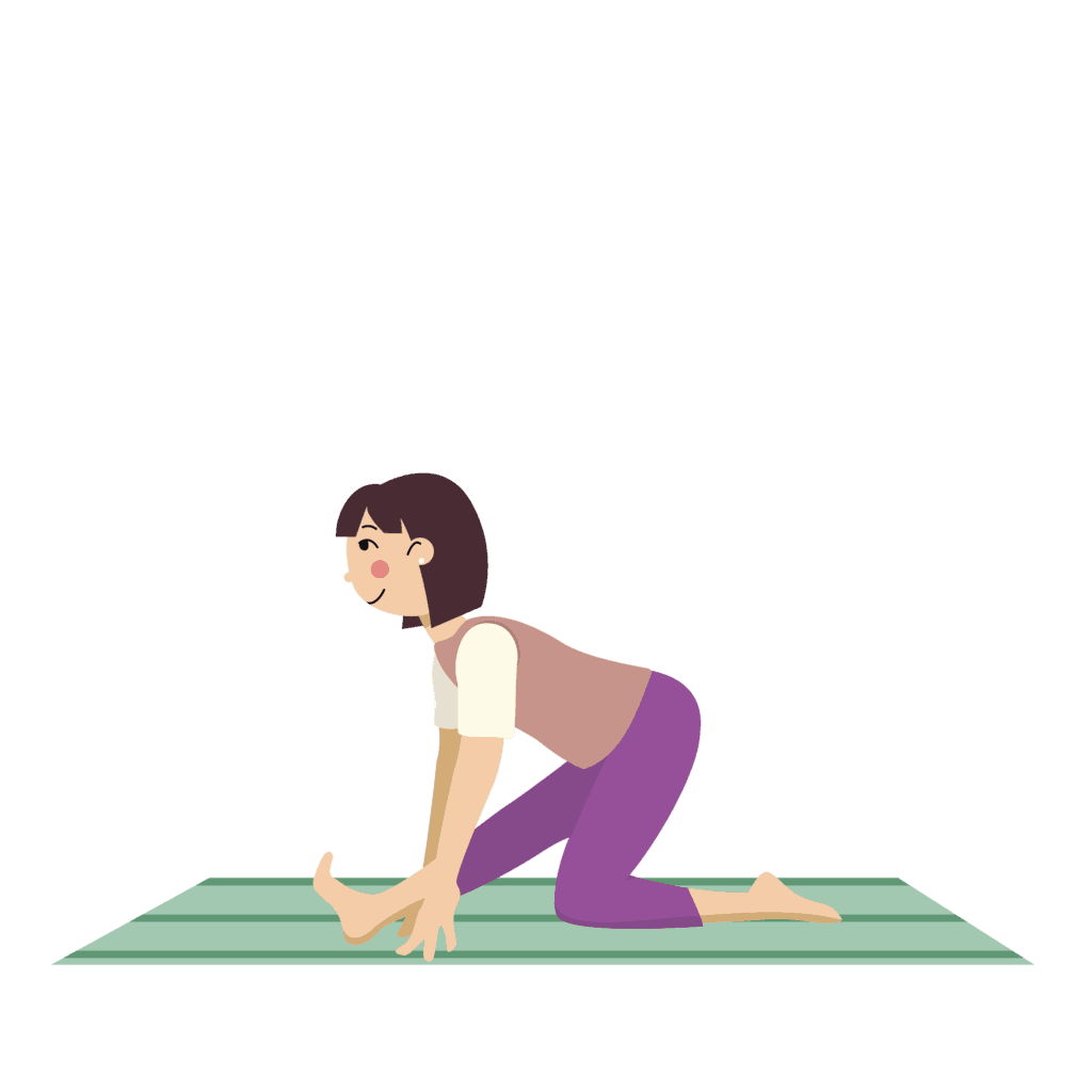 monkey pose, yoga for kids at home with parents.