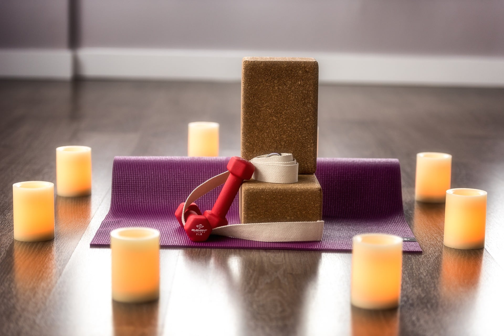 yoga at home, set up your at home yoga space