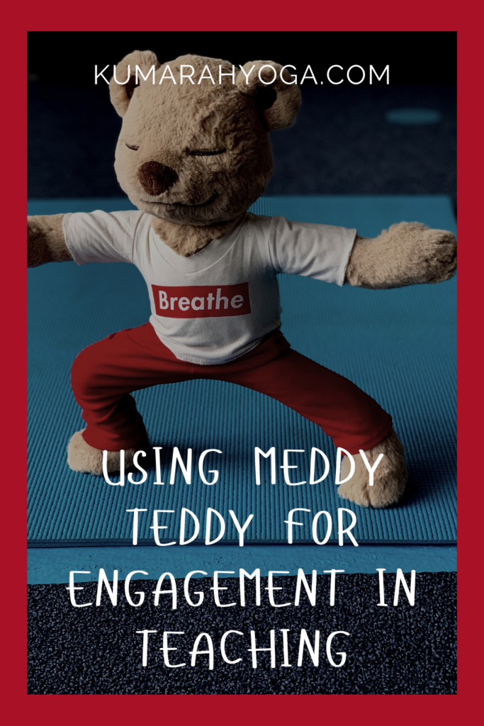 meddy teddy for kids yoga and mindfulness, yoga games and activities with meddy teddy