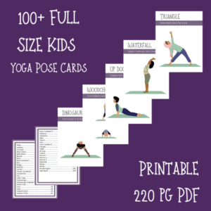 yoga pose cards for kids