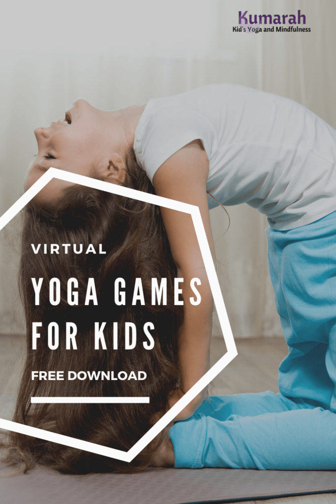 virtual and distance learning games for kids yoga classes on zoom, yoga games for kids in social distance