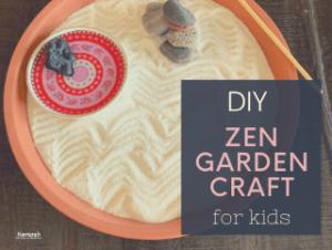 mindfulness craft for kids, kids mindfulness craft zen garden