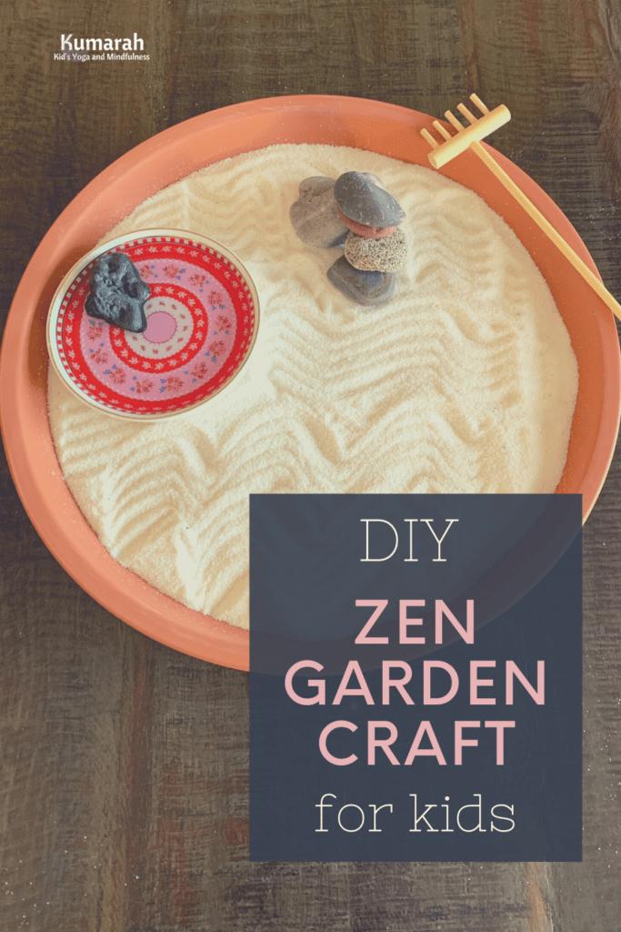 mindfulness craft for kids, kids mindfulness craft zen garden, how to make a zen garden for kids, mindful art activities for kids,