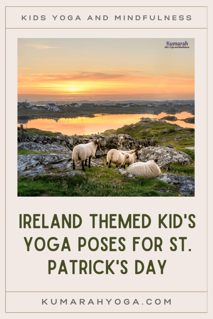Ireland themed kid's yoga poses for St patricks day