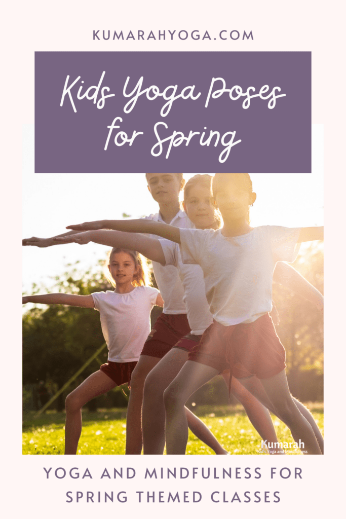 spring themed yoga poses for kids