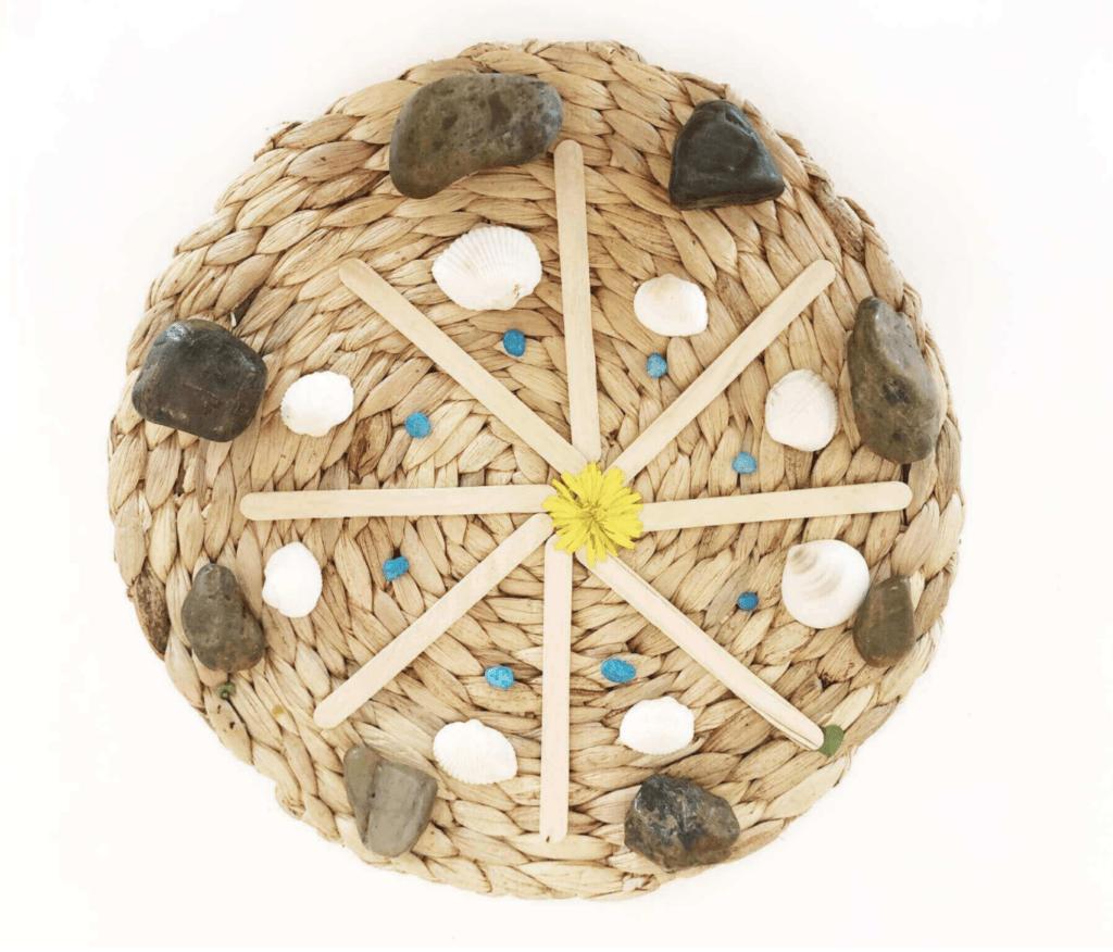 Mindful Mandala grass mat Craft for kids